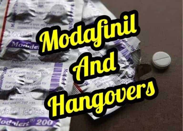 Modafinil and Hangovers