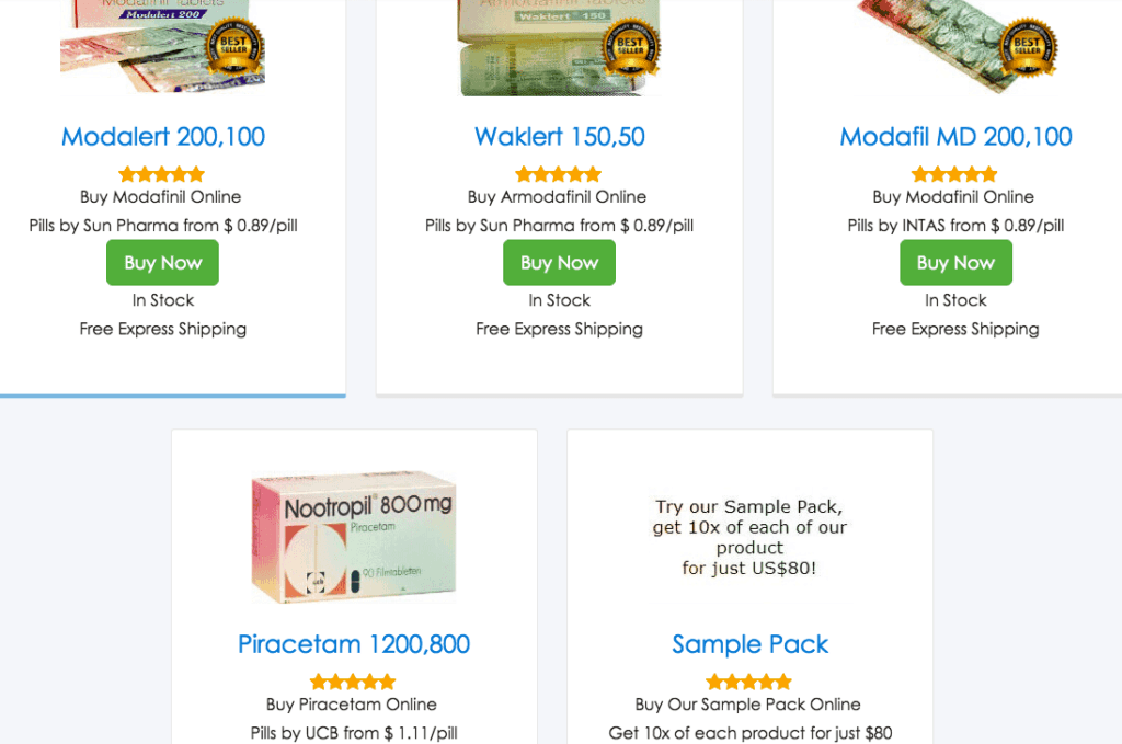 Modafinil website